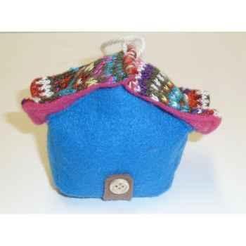 Fig a susp maison 9cm bleu Peha -TR-29785