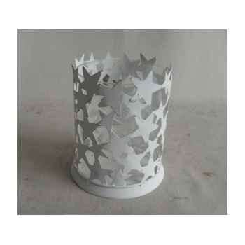 Porte bougie etoile 14x12,5x16cm blanc Peha -TR-30100