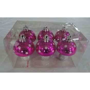 6 champignons peche 7cm Peha -TR-30175