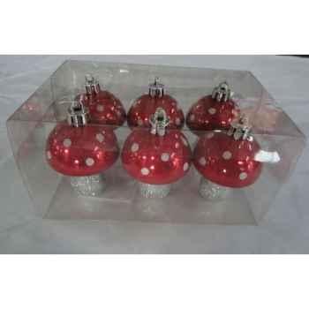 6 champignons rouge 7cm Peha -TR-30180