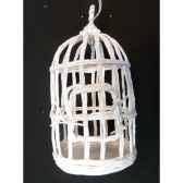 suspension cage oiseau 17cm blanc peha tr 32055