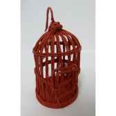 suspension cage oiseau 17cm rouge peha tr 32065