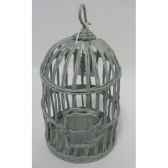 suspension cage oiseau 20cm gris peha tr 32075