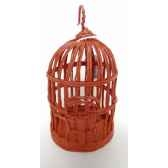 suspension cage oiseau 20cm rouge peha tr 32080