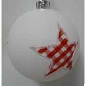 4 balles etoiles 8cm blanc peha tr 34255