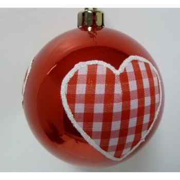 4 balles coeur 8cm rouge Peha -TR-34265