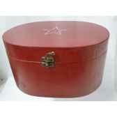 boite en bois motif etoile 19cm rouge peha tr 34345