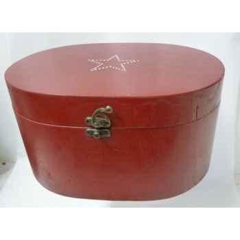 Boite en bois motif étoile 19cm rouge Peha -TR-34345