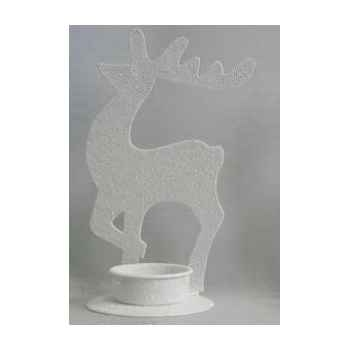 Photophore renne blanc 15,5 cm Peha -TR-34360