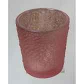 porte bougie 10cm violet rose peha tr 35845