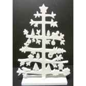 sapin en bois 30cm blanc peha tr 35950
