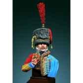 figurines buste officier des hussards armee de napoleon en 1800 1810 s9 b18