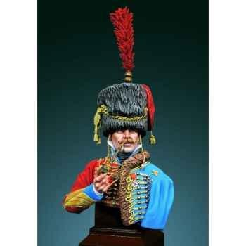 Figurines - Buste  Officier des hussards armée de Napoléon en 1800-1810 - S9-B18