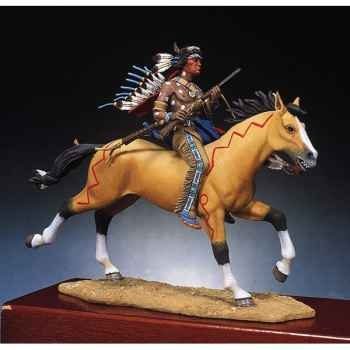 Figurine - Guerrier sioux armé d'une carabine - S4-F2
