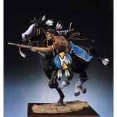 figurine guerrier sioux tirant a la carabine s4 f4