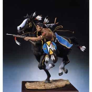 Figurine - Guerrier sioux tirant à la carabine - S4-F4
