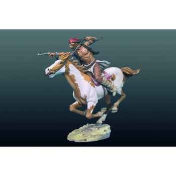 Figurine - Apache à cheval - S4-F33