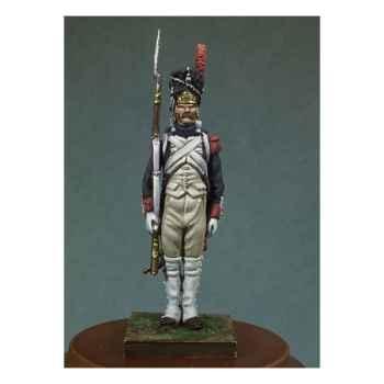 Figurine - Grenadier de la garde impériale en 1810 . Garde-à-vous ! - NA-001