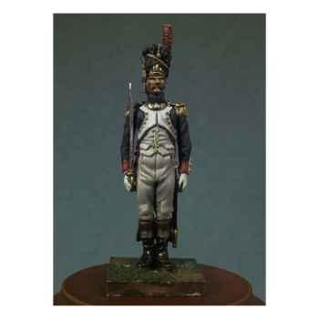 Figurine - Officier des grenadiers de la garde impériale en 1810. Garde-à-vous ! - NA-002