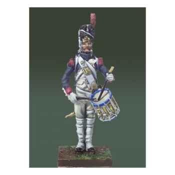 Figurine - Tambour des grenadiers de la garde impériale en 1810 . Garde-à-vous ! - NA-003