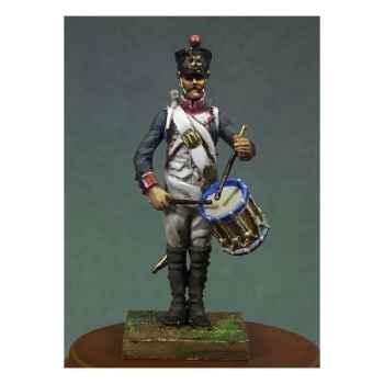 Figurine - Tambour d'infanterie de ligne en 1810 . Garde-à-vous ! - NA-006