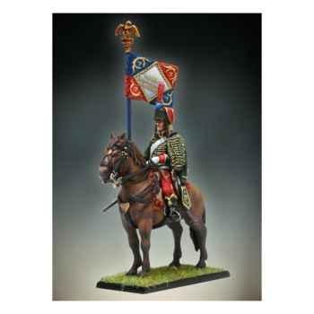 Figurine - Etendard de Hussards à Cheval - NA-011
