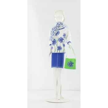 Debbie cornflower Dress Your Doll -S113-0106
