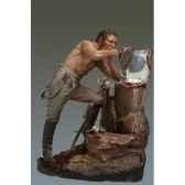 figurine cuirassier en train de se raser en 1806 s7 f32