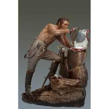 Figurine - Cuirassier en train de se raser en 1806 - S7-F32
