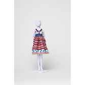 audrey stripes flowers dress your dols412 0305