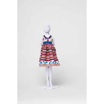 Audrey stripes & flowers Dress Your Doll -S412-0305