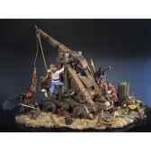 figurine ensemble trebuchet en 1460 sm s03