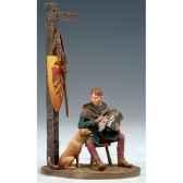 figurine ecuyer avec chien au xiii siecle sm f51