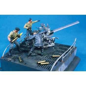 Figurine - Canonnière et équipage de l'U-Boat VII C - S5-S10