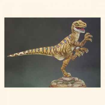 Figurine - Deinonichus  Dinosaure carnivore  - F-002