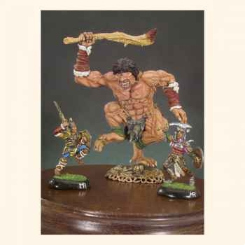 Figurine - Cyclope et guerriers - F-005