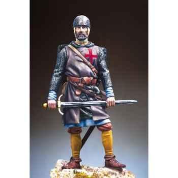 Figurine - Sergent des templiers en 1250 ap. J.-C - S11-F01