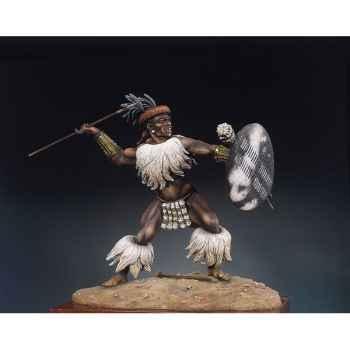 Figurine - Guerrier zoulou  Isandlwana en 1879 - S8-F12
