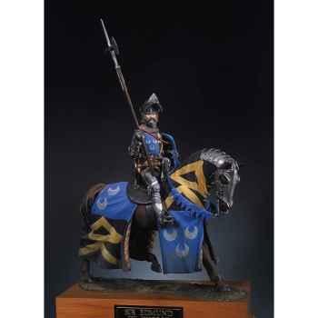 Figurine - Chevalier à cheval en 1400 - S8-F27