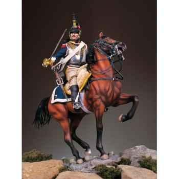 Figurine - Cuirassier français à cheval en 1812 - S8-F34