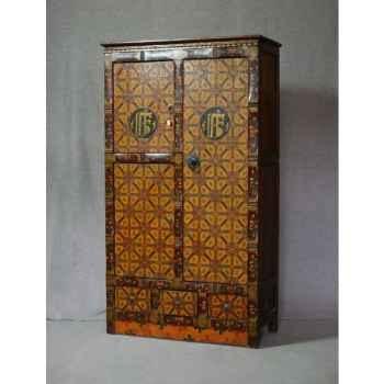Armoire style tibétain 5 -KTR0043