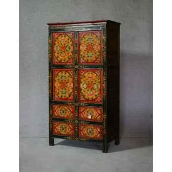 Armoire style tibétain 7 -KTR0051