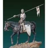 figurine templario a caballo sxi s8 f40
