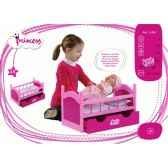 lit poupee avec tiroir princesse arias 21561