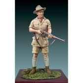 figurine chasseur en afrique sg f098