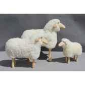 agneau d exterieur en bois de pin 45 cm meier 40330