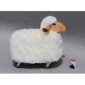 agneau a roulettes blanc siege a 30 cm meier 41218