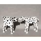 chien bois peint a la main 80 cm siege a 72 cm meier 60600