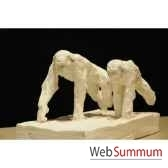 couple de chimpanzes courant borome sculptures chimp5