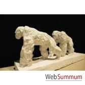 couple de chimpanzes a arret borome sculptures chimp7